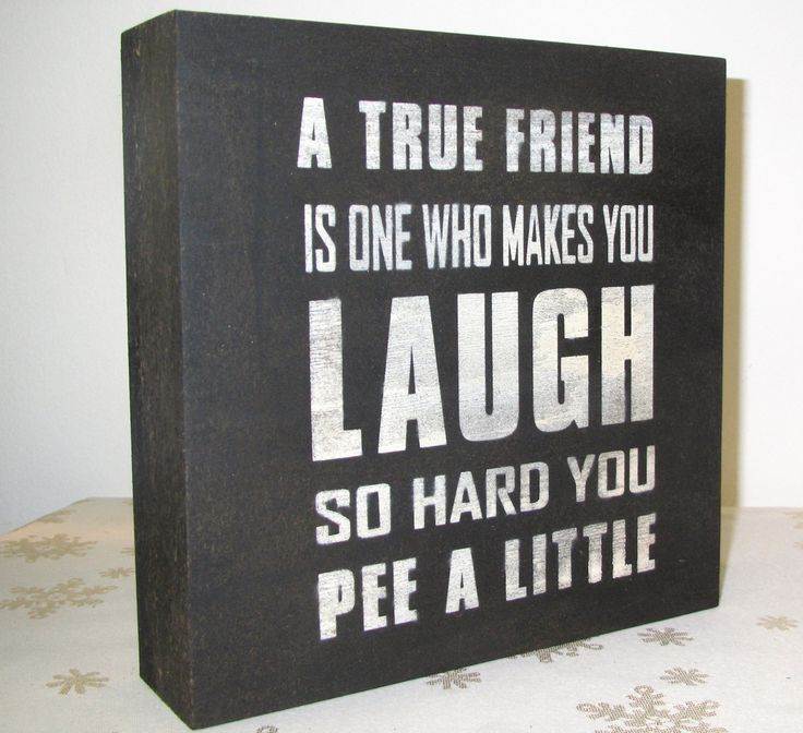 Friendship Quote Signs : Painted wooden primitive rustic sign fun funny true friend black and