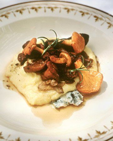 Wild Mushroom Ragout Over Creamy Polenta