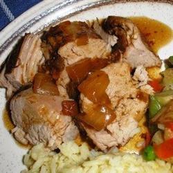 Slow Cooker Teriyaki Pork Tenderloin.....so good, that the husband ...