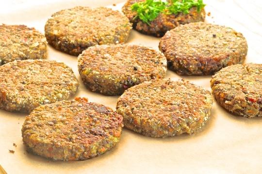 Lentil Vegetable Burgers | Vegan Burger 'N Fries | Pinterest