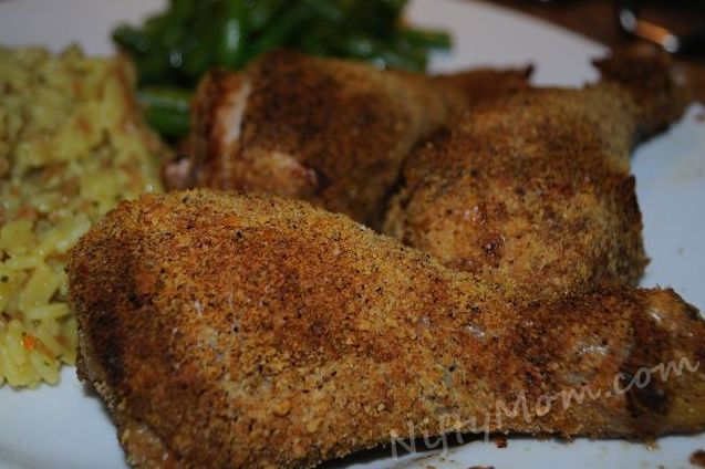 Oven Baked Breaded Chicken Drumsticks (with Ritz Crackers)