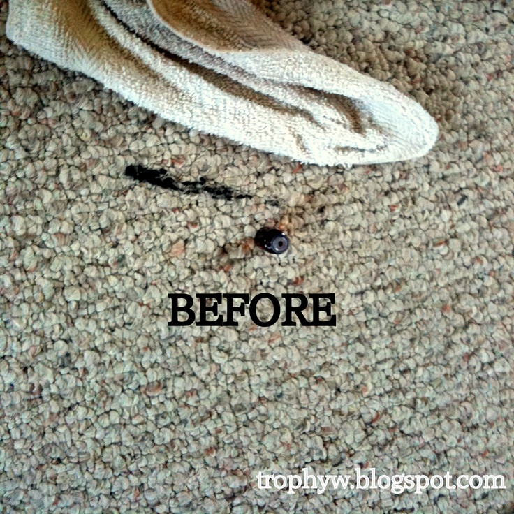 Non-toxic way to remove oil-based paint from carpets