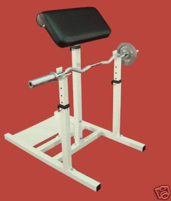 how to use preacher curl bench