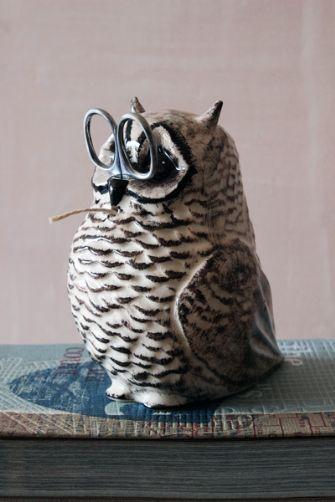 Owl String and Scissor Holder