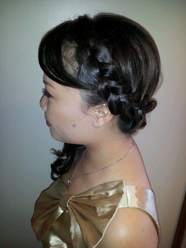 Side braid with curls   Hair   Pinterest
