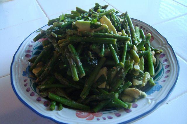 Asparagus and Avocado Salad. March 27, 2011. by canarsiebk, via Flickr