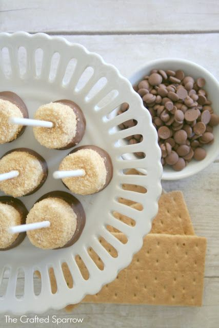 mores Pops {The Crafted Sparrow} #smores