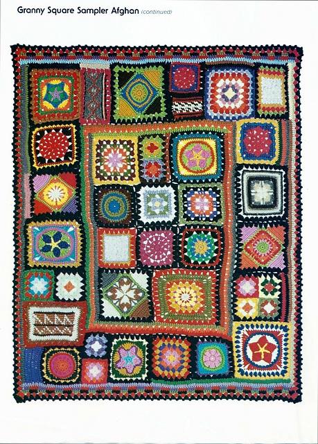 Free Crochet Pattern For Granny Square Sampler : Granny Square Sampler Afghan Hooked! Pinterest
