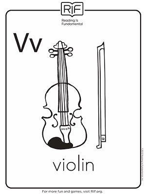 Violin Printable Coloring Pages