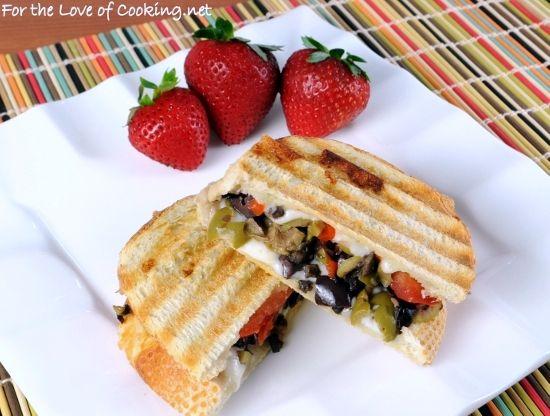 Tapenade, Mozzarella, and Tomato Panini | Paninis and Sandwiches ...