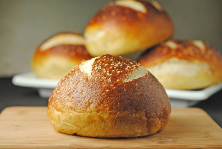 Homemade Pretzel Hamburger Buns   Recipes to try   Pinterest