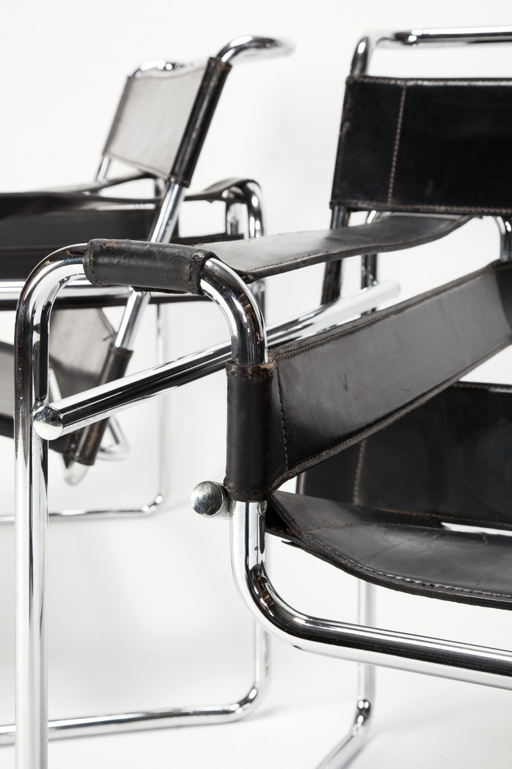 marcel breuer wassily chair bent tubular steel furniture design inspired by his bicycle chair. Black Bedroom Furniture Sets. Home Design Ideas
