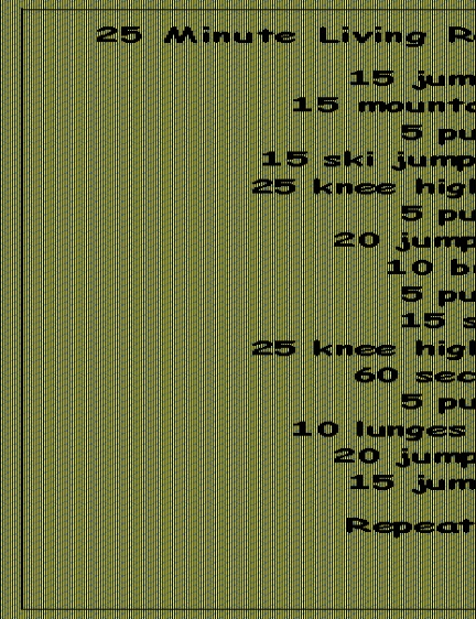 25 minute living room cardio workout fitness pinterest for Living room workout