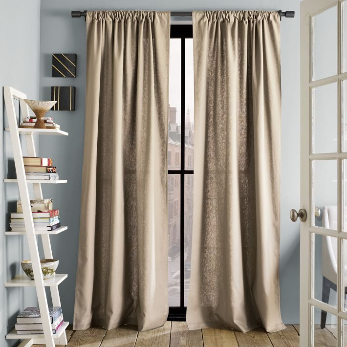 Curtains - westelm.com - Linen Cotton Window Panel – Flax