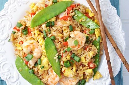 Shrimp & Snow Pea Fried Rice Recipe — Savor The Thyme - Food, Family ...
