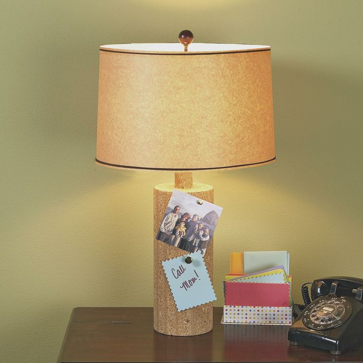 Eco friendly cork table lamp for Wine cork lampshade
