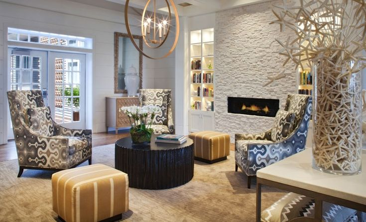The lobby is replete with modern coastal style. - White Elephant Village - Nantucket, Massachusetts