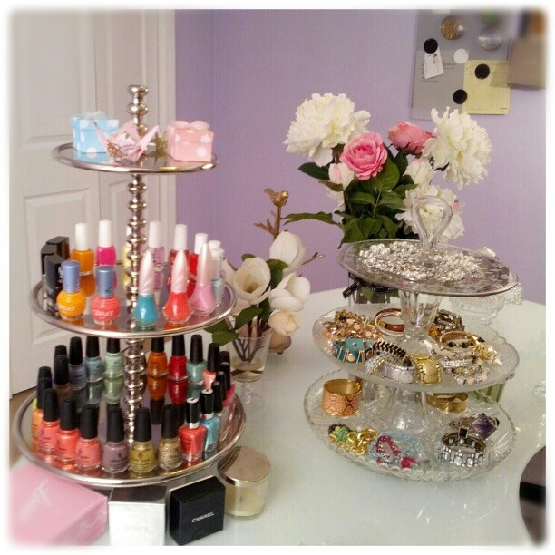 Nail Polish + Jewellery Organisation