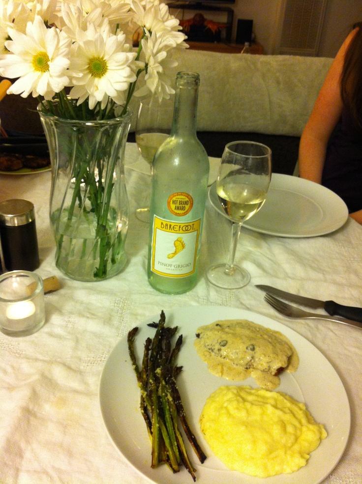 Chicken Breast Cutlets in Caper Cream Sauce with Yukon Gold Potato ...