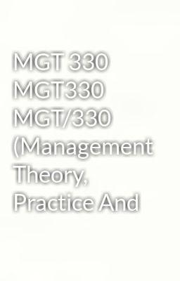 mgt 330 management planning paper