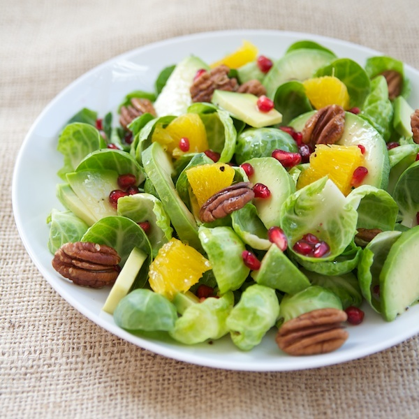 Brussels Sprout Pomegranate Citrus Salad Recipe — Dishmaps