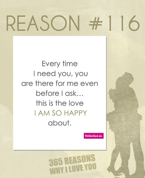 365 Reasons Why I Love You Quotes : Reasons why I love you #116 365 Love Quotes for Him Pinterest