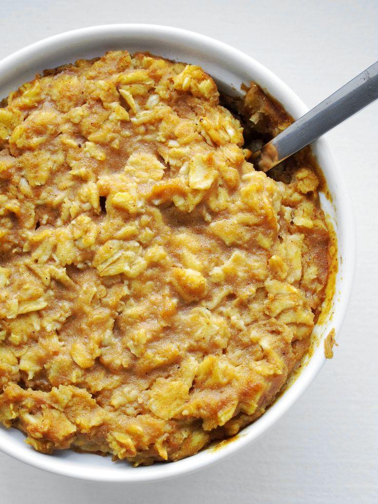 Pumpkin Pie Baked Oatmeal | Food - Breakfast | Pinterest
