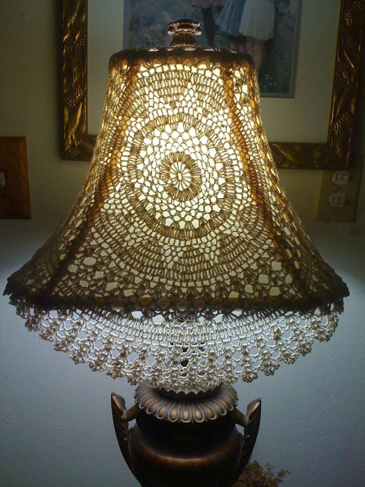 Crochet Lamp Shade Crochet Lamp Shades//Heegeldame Lambi ...