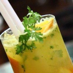 Hyderabad Mojito 2 oranges cilantro 1 oz lemon 2 ozs rum 1/2 oz simple ...
