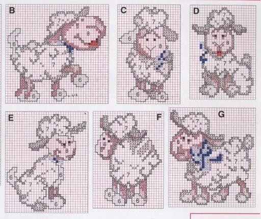 Вышиваем овечку схемы