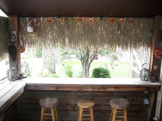 Inside The Tiki Bar Outdoor Ideas Pinterest