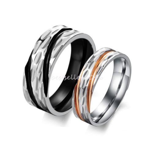 Rose Gold Rings Mens Black And Rose Gold Rings