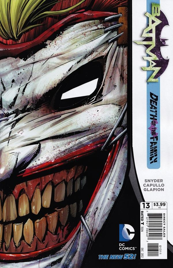 batman new 52 joker face sliced off