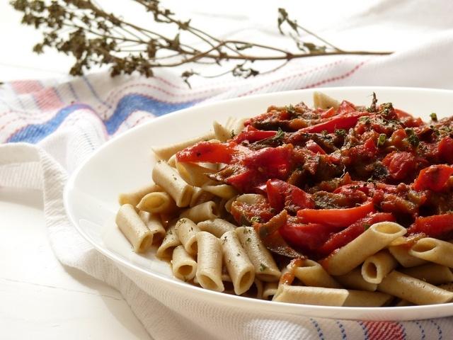 Penne alla Norma | Recetas-Verduras. Pimientos | Pinterest