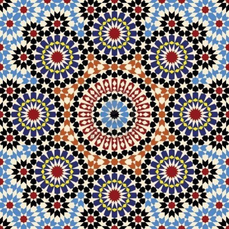 Moroccan Tile Pattern Geometric Print Pinterest