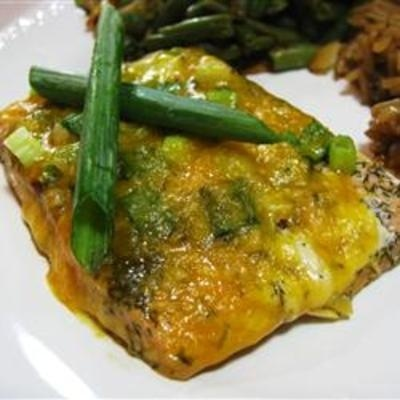 #recipe #food #cooking Cheesy Baked Salmon.