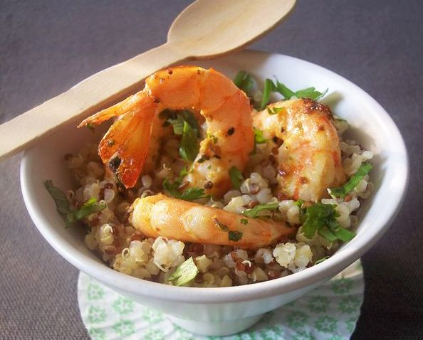 Quinoa Salad with Spicy ShrimpBare yourself in public: Tweet what you ...