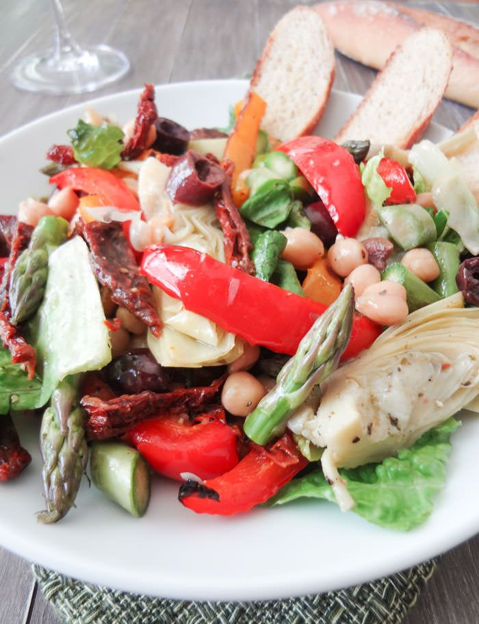 Mediterranean Antipasto Salad - Vegan and Alkaline - want to up the ...