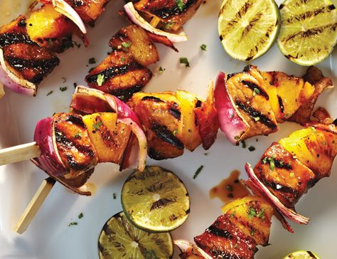 Pork & Pineapple Skewers | Food | Pinterest