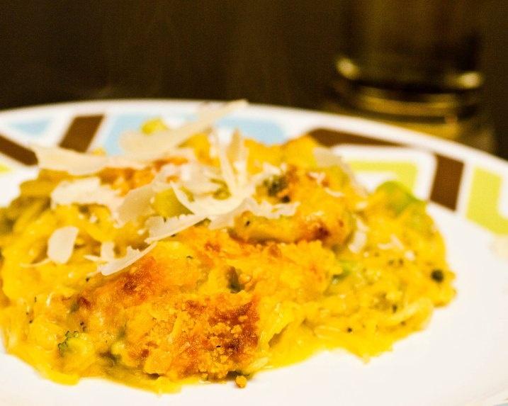 "Baked Spaghetti Squash ""Mac"" & Cheese | gastronomy | Pinterest"