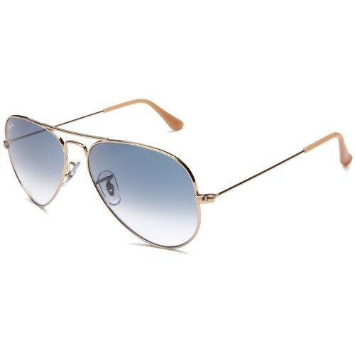 Rb3025 Aviator Sunglasses Gold Frame Crystal Gradient Bl : Ray Ban Aviator Blue gradient Gold Gimme plz Pinterest
