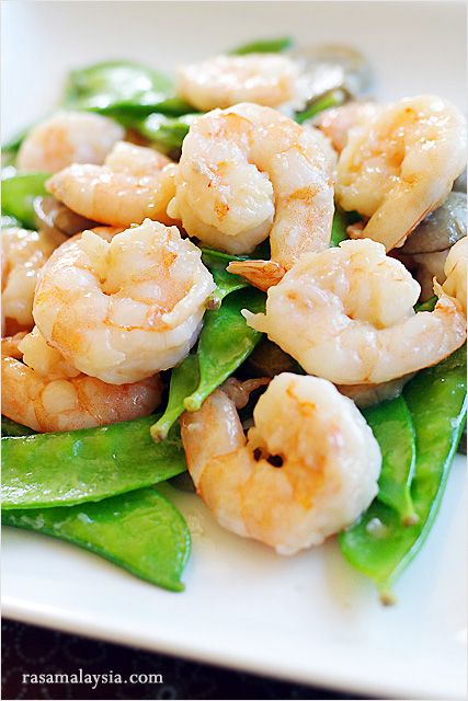 Shrimp with Snow Peas: I love shrimp, so much so that I eat shrimp ...