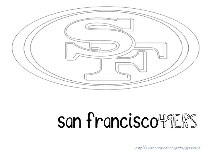 Sanfrancisco49ers free colouring pages for Sf 49ers coloring pages
