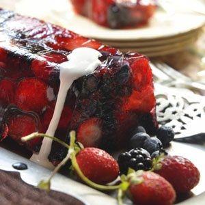 Summer berry terrine | South African food | Pinterest
