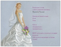 Wedding Invitations & Announcements bridal shower gown