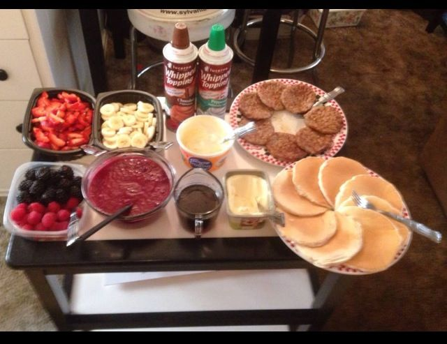 Christmas Morning Pancake Buffet