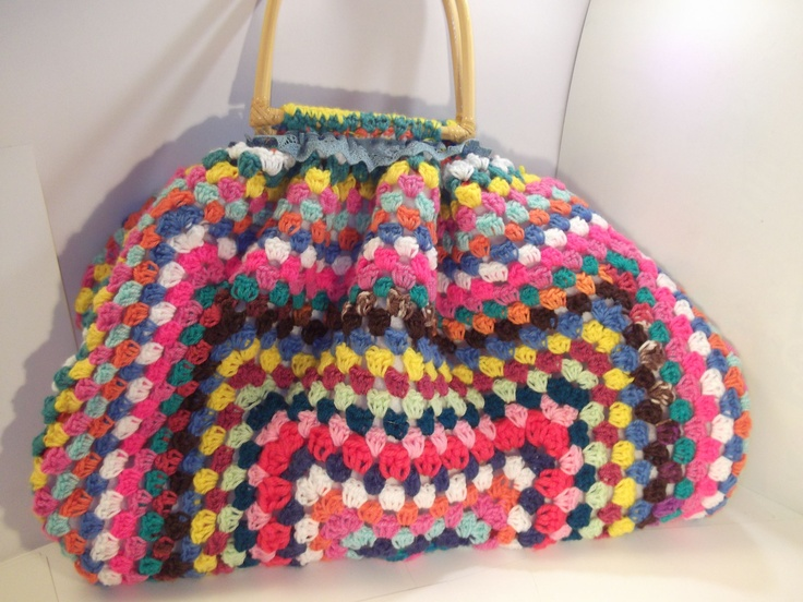 Granny Square Bag : Granny square bag Crochet Pinterest