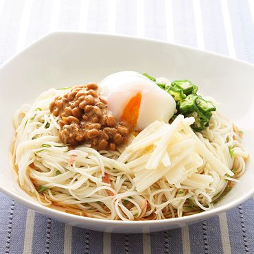 for noodle you ねばねばぶっかけそうめん Pinterest noodle
