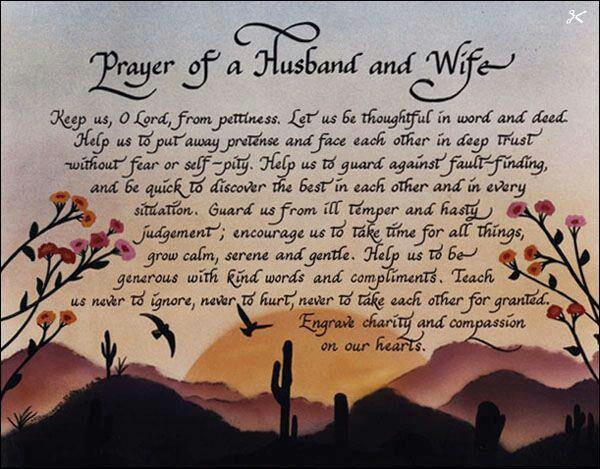 prayer of a husband and wife inspirational quotes