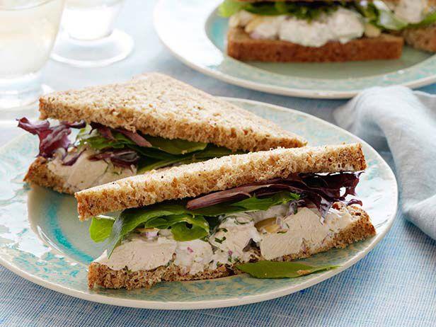 Herbal Chicken Salad Sandwiches #myplate #protein #starch